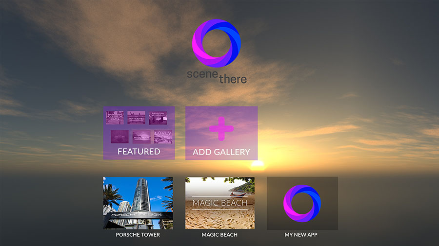 SceneThere – Turn your 360-content into VR experiences